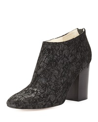 Bettye Muller Celeb Crackled Leather Bootie Black