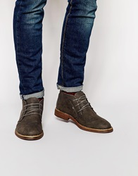 New Look Boot In Faux Nubuck Charcoal