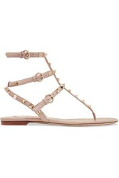 Valentino Garavani The Rockstud Leather Sandals Antique Rose
