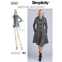 Simplicity Misses' Women's Leanne Marshall Coat And Jacket Sewing Pattern 8262