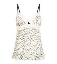 Eberjey Sketchy Spots Camisole Female White