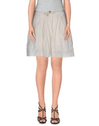 Maison Scotch Skirts Mini Skirts Women Ivory