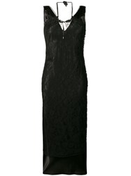 Christian Dior Vintage Double Layered Long Dress Black