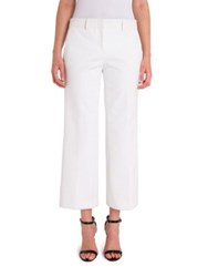 Emilio Pucci Milano Straight Cropped Pants White