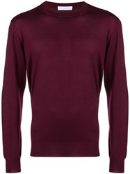 Cruciani Knitted Jumper Red