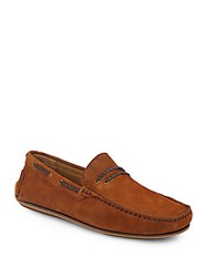 Saks Fifth Avenue Suede Driving Moccasins Tan