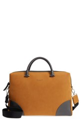 Ted Baker London Matcher Document Bag Brown