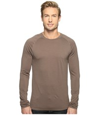 Smartwool Merino 150 Baselayer Pattern Long Sleeve Taupe Men's Clothing
