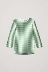 Cos Mix Stripe Long Sleeved Top Green