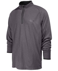 Greg Norman For Tasso Elba Men's Quarter Zip Performance Pullover Shirt Only At Macy's Grey