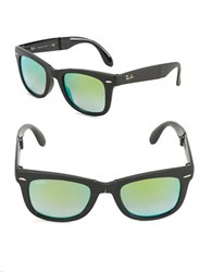 Ray Ban Mirrored Wayfarer Sunglasses Green Flash