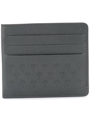 Tomas Maier Palm Tress Embossed Cardholder Men Leather One Size Grey