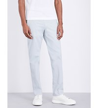 Canali Regular Fit Straight Cotton Chinos Lt Grey