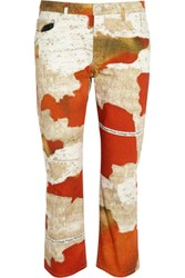 Acne Studios Printed Mid Rise Straight Leg Jeans Tomato Red