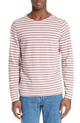 A.P.C. Men's Joey Stripe Long Sleeve T Shirt