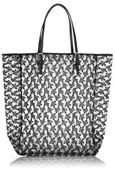 Finds Embroidered Mesh Tote Black
