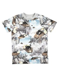 Molo Ralphie Hover Cars Printed Short Sleeve T Shirt Size 4 10 Multi