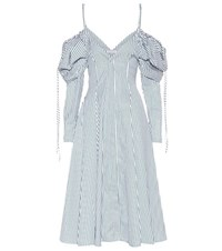 J.W.Anderson Exclusive To Mytheresa.Com Off The Shoulder Cotton Dress Green