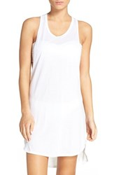 Leith Women's Racerback Cover Up Tank Dress White