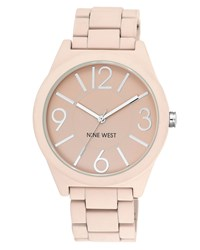 Nine West Pink Soft Silicon Watch Pink