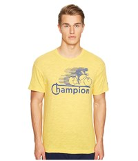 Todd Snyder Champion Cycling Graphic T Shirt Golden Yellow