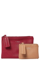 Urban Originals Dreamer 2 Pack Vegan Leather Card Cases Red Nude Cranberry