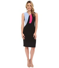 Ellen Tracy Color Block Sheath Dress E Black Women's Dress