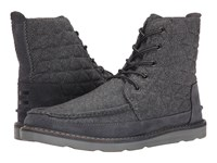 Toms Searcher Boot Castlerock Grey Quilted Wool Suede Men's Lace Up Boots Gray