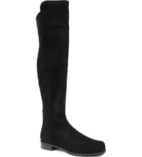 Stuart Weitzman 5050 Suede Riding Boots Black