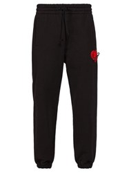 Palm Angels Heart And Safety Pin Logo Track Pants Black