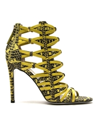 Jason Wu Strappy Woven Sandals Yellow And Orange