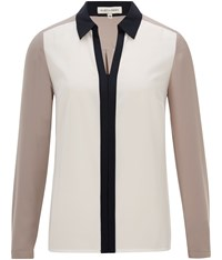 Austin Reed Colour Block Blouse Multi Coloured