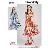 Simplicity 'S Sew Chic Dresses Sewing Pattern 8691