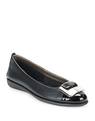 The Flexx Rise N Curry Leather Flats Black