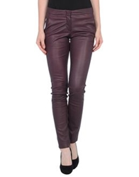 L'agence Leather Pants Deep Purple