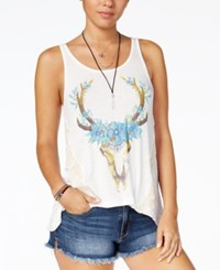 American Rag Juniors' Graphic Print Tank Top Created For Macy's Egret Combo