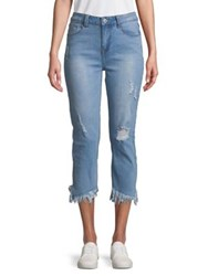 Candc California Slanted Frayed Hem Riley Jeans