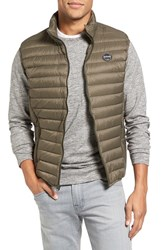 Schott Nyc Men's Lightweight Quilted Down Vest Olive