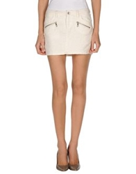 Guess Mini Skirts Ivory