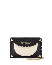 Betsey Johnson Wavy Days Phone Crossbody Bag Cream Ivory Black