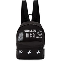 Mcq By Alexander Mcqueen Black Classic 'Swallow' Backpack