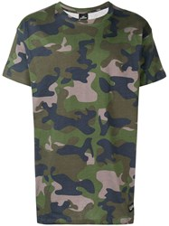 Les Artists Art Ists T Foot Camouflage T Shirt Green