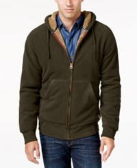 Weatherproof Vintage Men's Big And Tall Faux Sherpa Lined Hoodie Only At Macy's Espresso