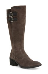 Born B Rn Basil Knee High Boot Grey Distressed Leather