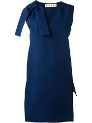 Marni Bow Detail Tunic Blue