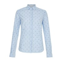 Hobbs Megan Shirt Pale Blue Ivory