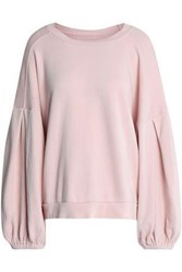 7 For All Mankind Cotton Terry Sweatshirt Pastel Pink