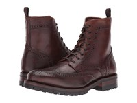 Frye George Lug Brogue Lace Up Cognac Vintage Pull Up Men's Boots Brown