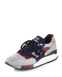 New Balance Men's 998 Made In Usa Suede Sneaker Gray Navy Gray Blue