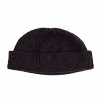 40 Colori Charcoal Solid Wool Fisherman Beanie Grey